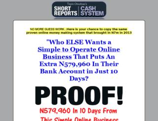 shortreportscashsystem.com screenshot