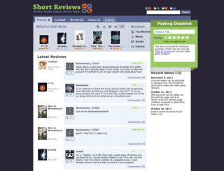 shortreviews.net screenshot