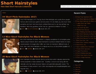 shortshairstyless.com screenshot