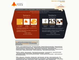 shorttask.com screenshot