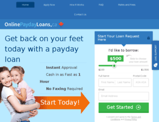 shorttermloans.ca screenshot