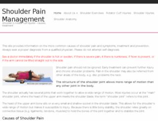 shoulder-pain-management.com screenshot