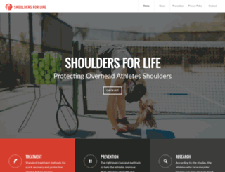 shouldersforlife.org screenshot