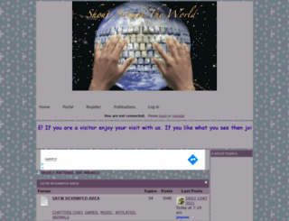 shoutaroundtheworld.forumotion.com screenshot