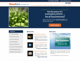 shoutbackconcepts.com screenshot