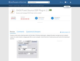 shoutcast-source-dsp-plug-in.software.informer.com screenshot