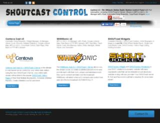 shoutcastcontrol.com screenshot