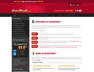 shouthost.com screenshot