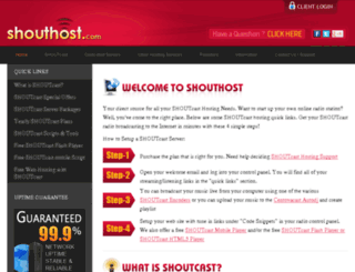 shouthostdirect.com screenshot
