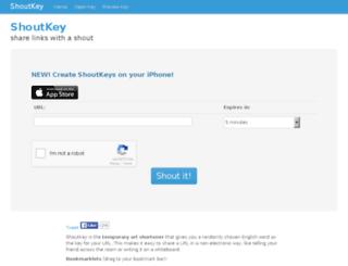 shoutkey.com screenshot
