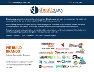 shoutlegacy.com screenshot