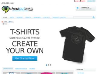 shoutoutshirts.com screenshot