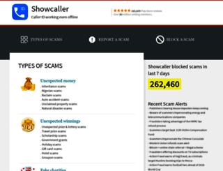 show-caller.com screenshot