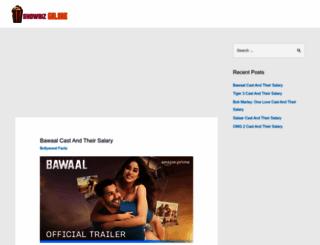 showbizgalore.com screenshot