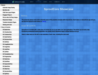 showcase.sproutcore.com screenshot