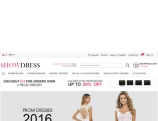 showdress.co.uk screenshot