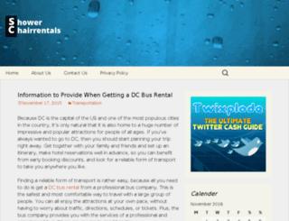 showerchairrentals.com screenshot