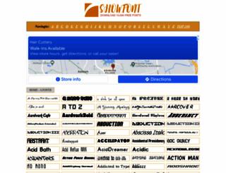 showfont.net screenshot