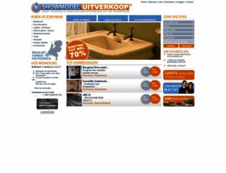showmodeluitverkoop.nl screenshot