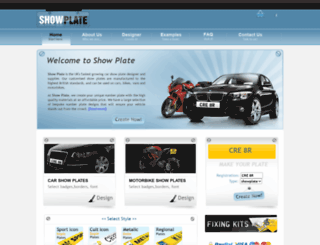 showplate.co.uk screenshot