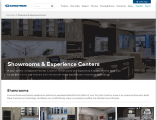 showroom.crestron.com screenshot