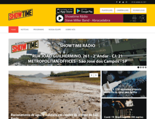 showtimeradio.com.br screenshot