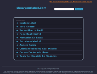 showyourlabel.com screenshot