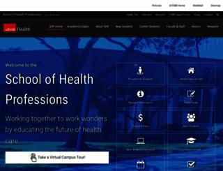 shp.utmb.edu screenshot