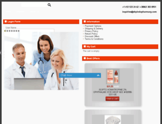 shpindapharmacy.com screenshot