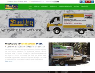 shreddersindia.co.in screenshot
