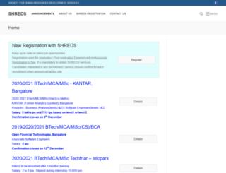 shredskerala.org screenshot