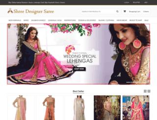 shreedesignersarees.com screenshot