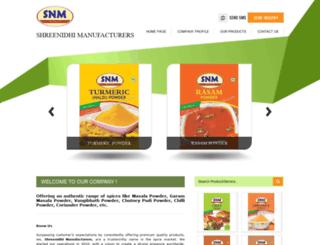shreenidhimasala.com screenshot