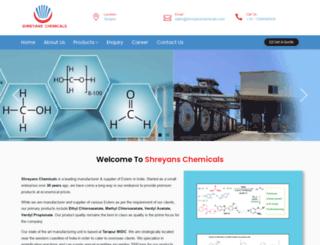 shreyanschemicals.com screenshot