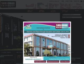 shridharuniversity.org.in screenshot