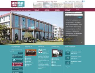 shridharuniversity.org screenshot