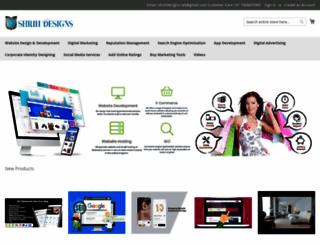 shrihdesigns.com screenshot