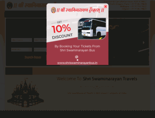shriswaminarayanbus.in screenshot