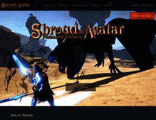 shroudoftheavatar.com screenshot