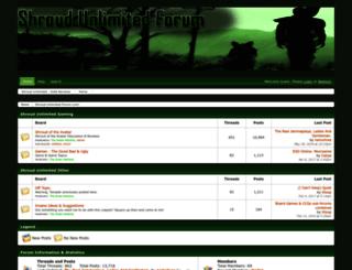shroudunlimited.boards.net screenshot