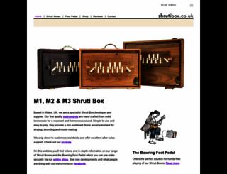 shrutibox.co.uk screenshot