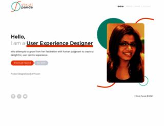 shrutipande.com screenshot