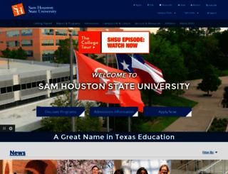 shsu.edu screenshot