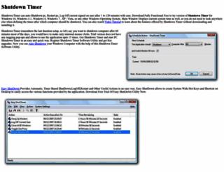 shutdowntimer.com screenshot