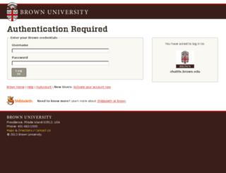 shuttle.brown.edu screenshot