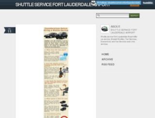 shuttleservicefortlauderdale.tumblr.com screenshot