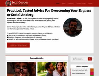 shynesssocialanxiety.com screenshot