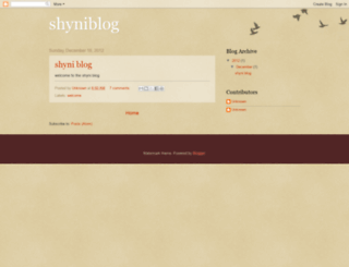 shyniblog.blogspot.com screenshot