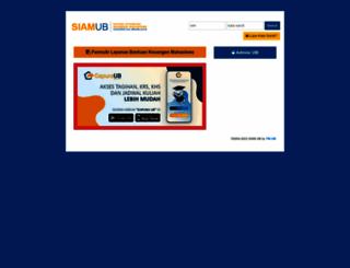 siam.ub.ac.id screenshot