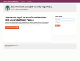 sib.unp.ac.id screenshot